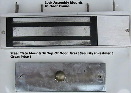 1000 pound pull magnetic door for 12 volt door latch